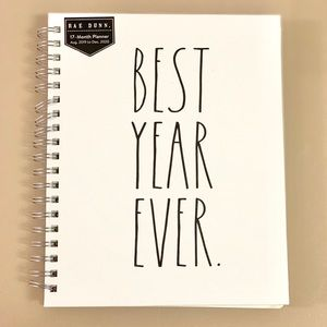 Rae Dunn XL BEST YEAR EVER 17 Month Planner Book